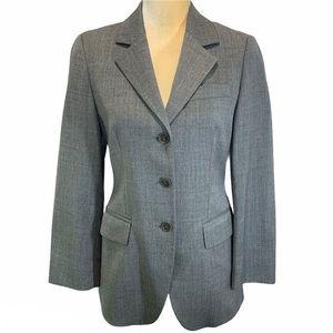 Sisley Gray Wool Blend Blazer Jacket Made in Italy